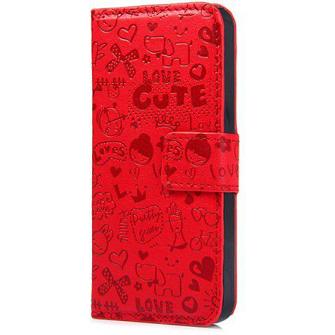 Hot Magnetic Snap Design PU Leather Flip Protective Cover Case for iPhone SE / 5 / 5S