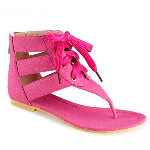 Online Sweet Flip-Flop and Lace-Up Design Women's Sandals