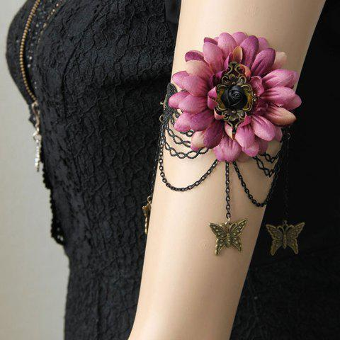 Buy Floral Butterfly Shape Lace Arm Chain Jewelry PINK