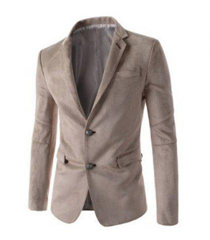 Fashion Trendy Slimming Personality Pocket Embellished Houndstooth Lapel Long Sleeves Men's Blazer