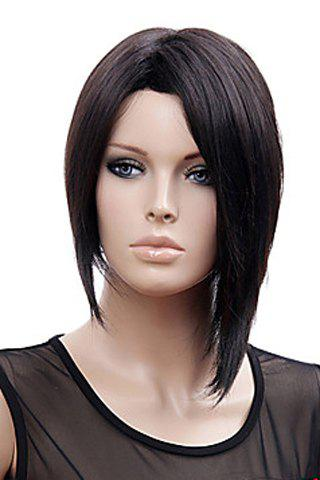 Shops Trendy No Bang Charming Offbeat Short Straight Black Synthetic Capless Wig For Women