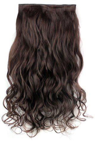Outfits Fashion Dark Brown Long Curly Clip-In Heat Resistant Synthetic Hair Extension For Women DEEP BROWN
