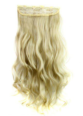 Shops Fashion Light Blonde Long Curly Clip-In Heat Resistant Synthetic Hair Extension For Women - LIGHT GOLD  Mobile