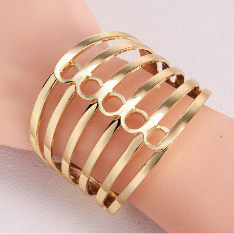 Shops Chic Openwork Stripe Design Alloy Bracelet For Women