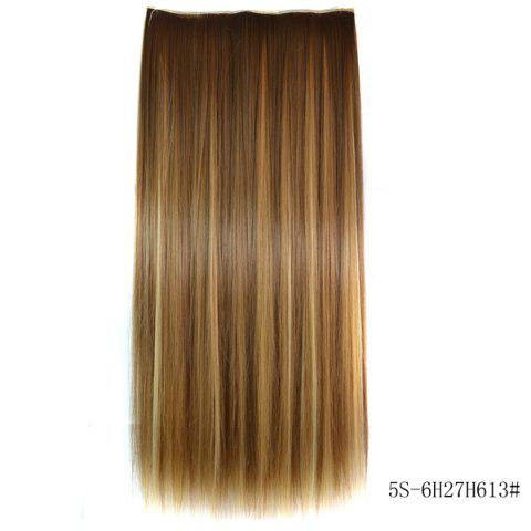 Sale Fashion Long Straight 6H27H613 Heat Resistant Synthetic Hair Extension For Women