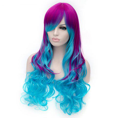 Discount Fashion Charming Ombre Side Bang Long Wavy Heat Resistant Synthetic Cosplay Wig For Women - COLORMIX  Mobile