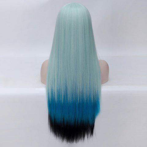 Unique Fashion Charming Ombre Side Bang Long Straight Heat Resistant Synthetic Cosplay Wig For Women - MULTI  Mobile