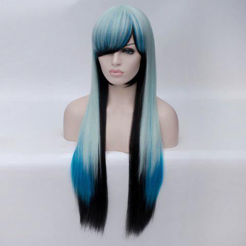 Shop Fashion Charming Ombre Side Bang Long Straight Heat Resistant Synthetic Cosplay Wig For Women - MULTI  Mobile