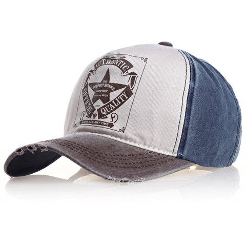 Shops Chic Badge Pattern Color Splice Baseball Cap For Men RANDOM COLOR