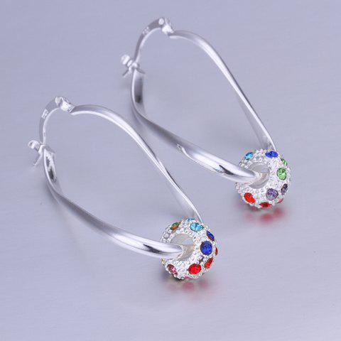 Outfit Pair of Ball Rhinesone Alloy Drop Earrings SILVER