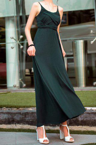 Shops Bohemian Spaghetti Strap Solid Color Maxi Dress For Women