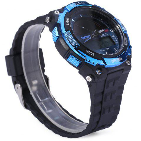 Buy Skmei 1049 Solar Power Army LED Watch Date Week Dual-movt 5ATM Water Resistant Military Wristwatch for Sports - BLUE  Mobile