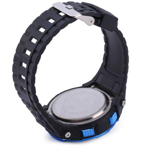 Chic Skmei 1049 Solar Power Army LED Watch Date Week Dual-movt 5ATM Water Resistant Military Wristwatch for Sports - BLUE  Mobile