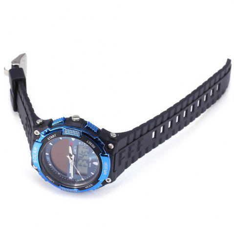 Discount Skmei 1049 Solar Power Army LED Watch Date Week Dual-movt 5ATM Water Resistant Military Wristwatch for Sports - BLUE  Mobile
