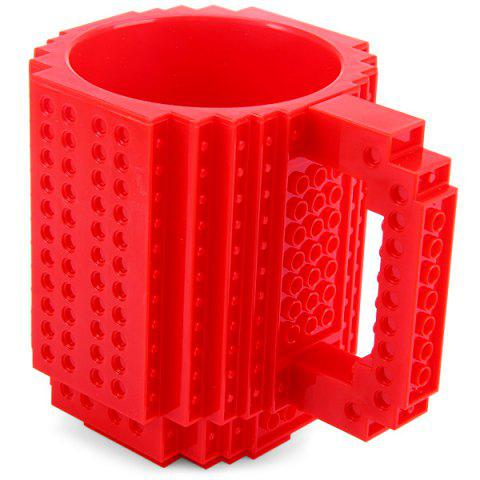 DIY Creative Building Blocks Style Build-On Brick Mug Théière