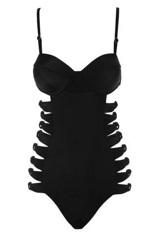 Sexy Spaghetti Straps Black One-Piece Women