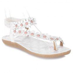 Sweet Elastic and Flowers Design Women's Sandals
