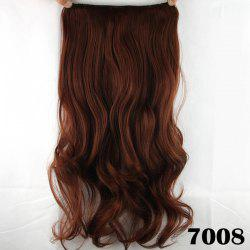 Fashion Long Wavy Clip-In Charming Reddish Heat Resistant Synthetic Hair Extension - BROWN