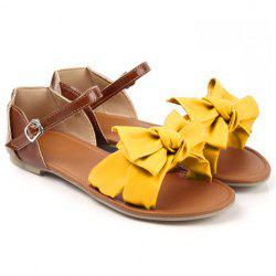 Trendy Bow and Color Block Design Women's Sandals -