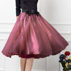 Stylish Elastic Waist Bowknot Embellished Women's Midi Skirt