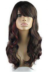 Vogue Highlight Long Fluffy Wavy Heat Resistant Women's Synthetic Wig With Face Side Wig