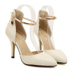 Elegant Rivets and Two-Piece Design Women's Pumps