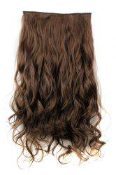 Fashion Light Brown Long Curly Clip-In Heat Resistant Synthetic Hair Extension For Women
