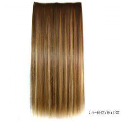 Fashion Long Straight 6H27H613 Heat Resistant Synthetic Hair Extension For Women -