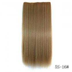 Fashion Clip-In Long Straight Number 16 Heat Resistant Synthetic Hair Extension -