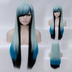 Fashion Charming Ombre Side Bang Long Straight Heat Resistant Synthetic Cosplay Wig For Women