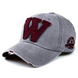 Chic Letter W Shape Patch Embellished Visor For Men
