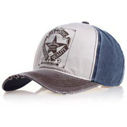 Chic Badge Pattern Color Splice Baseball Cap For Men