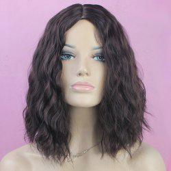 Trendy Centre Parting Charming Medium Curly Brown Mixed Synthetic Capless Wig For Women - BROWN