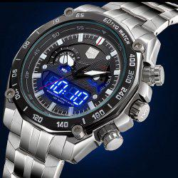 Tvg KM-3168 LED Military Outdoor Sports Wristwatch Men Multifunction Dual Time Watches