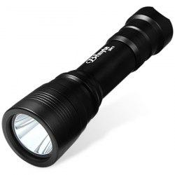 Brinyte DIV 11 Cree XM L2 U2 1000Lm 4 Modes Diving 18650 LED Flashlight Torch - BLACK
