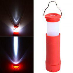 Telescopic Zooming LED Flashlight Mini Camping Lamp 3 Modes Torch - RED