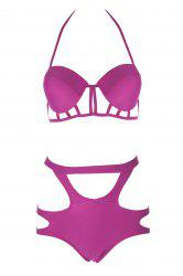 Caged Cut Out High Rise Bikini Set