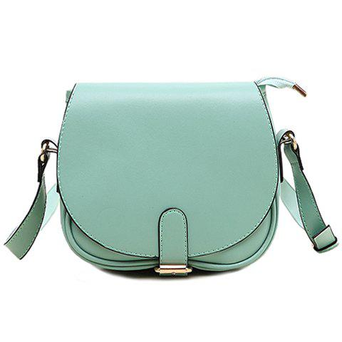Chic Sweet Candy Color and Buckle Design Women's Crossbody Bag
