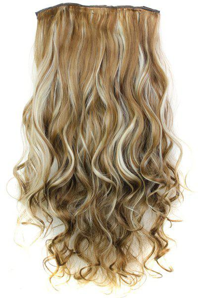 Best Fashion Mixed Color Long Curly Clip-In Heat Resistant Synthetic Hair Extension For Women