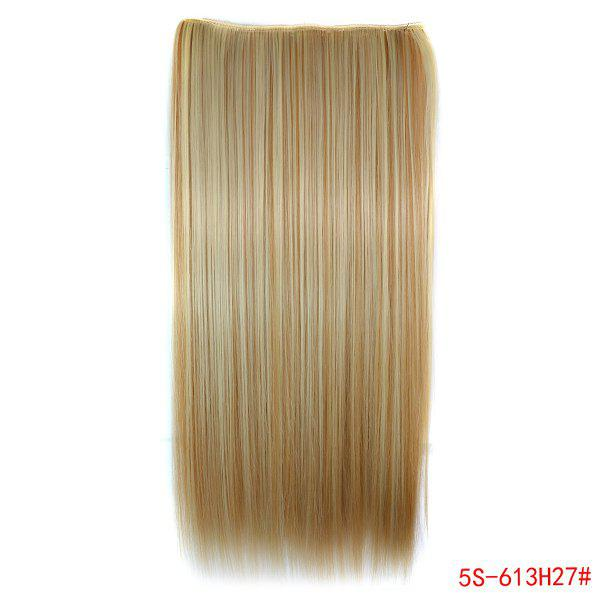 Fashion Clip-In Long Straight 613H27 Heat Resistant Synthetic Hair Extension For WomenHAIR<br><br>Hair Extension Type: Clip-In/On; Style: Straight; Fabric: Heat Resistant Synthetic Hair; Length: Long; Weight: 0.17KG; Package Contents: 1 x Hair Extension; Length Size(CM): 55;