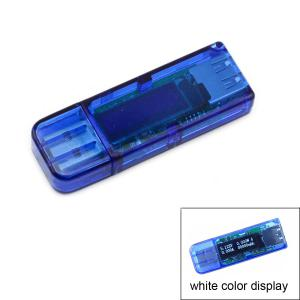 0.91 inch 128 x 32 Dot Matrix 4 Bit OLED USB Voltmeter Current Power Capacity Tester -