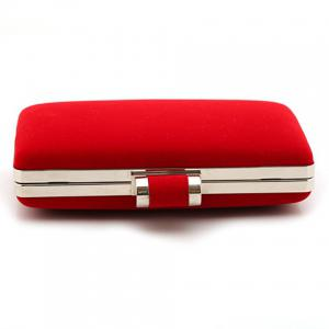 Simple Style Solid Color and Metallic Design Women's Evening Bag -