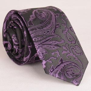 Retro Style Various Embroidered Abstract Pattern Neck Tie For Men