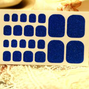 One Sheet Chic Solid Color Glitter Powder Nail Art Toenail Sticker -