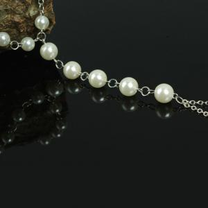 ONE PIECE Faux Pearl Decorated Anklet -