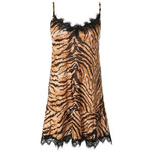 Sexy Spaghetti Strap Leopard Print Mini Women's Dress -