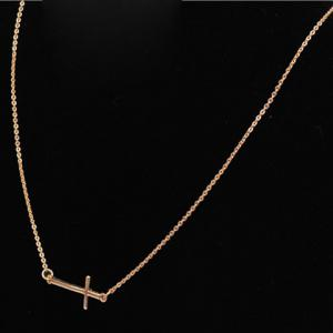 Chic Cross Shape Pendant Design Necklace For Women -