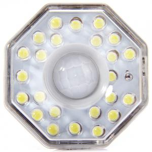 AL101 Infrared Human Body Inductive E27 Base 3W Lamp 24 LEDs Auto PIR Light - WHITE