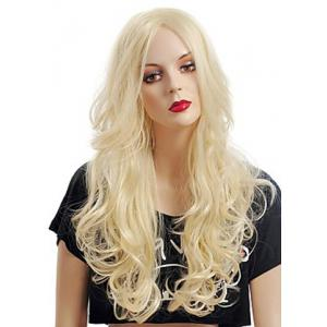 Fashion Fluffy Long Big Curly Heat-Resistant Glonde Blonde Capless Women's Synthetic Hair Wig