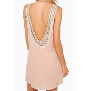 Scoop Neck Sleeveless Backless Chiffon Dress
